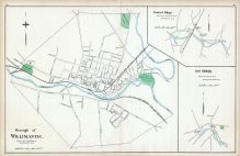 Willimantic Borough, Central Village, East Killingly, Connecticut State Atlas 1893