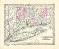 Connecticut State Map Long Island Sound Connecticut - Connecticut state map