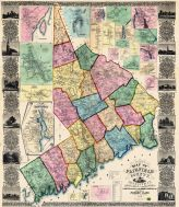 Fairfield County 1856 Wall Map, Fairfield County 1856 Wall Map
