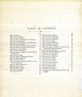 Table of Contents, Hartford City and County 1869