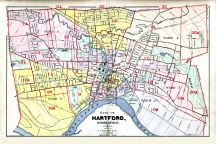 Hartford City and West Hartford Town 1909 Connecticut Historical Atlas
