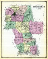 Middlesex County Map, Middlesex County 1874