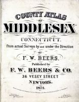 Title Page, Middlesex County 1874