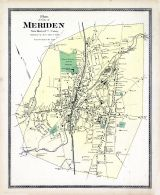 Meriden City Plan, New Haven County 1868