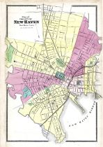 New Haven City Map, New Haven County 1868