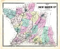 New Haven County Map, New Haven County 1868