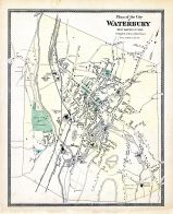 Waterbury City Plan, New Haven County 1868