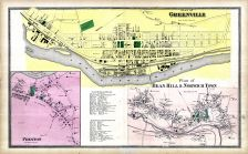 Greenville Map, Preston, Bean Hill and Norwich Town Map, Norwich Town and Bean Hill Map, New London County 1868