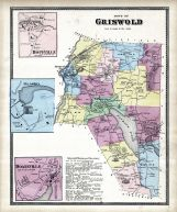 Griswold Town, Hopeville, Glasko, Doaneville, New London County 1868