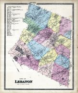 Lebanon Town, New London County 1868