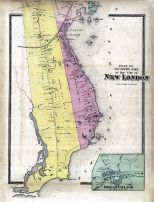 New London City South, Jordan Village, New London County 1868