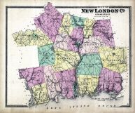 New London County Map, New London County 1868