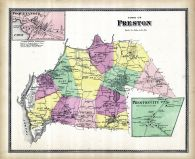 Preston Town, Poquetonock, Preston City, New London County 1868