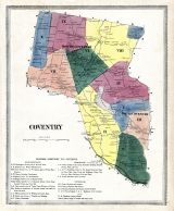 Coventry Atlas Tolland County 1869 Connecticut Historical Map - Us-map-1869
