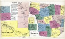 Mansfield Town, Mansfield Depot, Mansfield Hollow, Coventry South, South Coventry, Merrow Station, Eagleville, Tolland County 1869