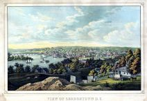 Georgetown 1855 Bird's Eye View 17x24, Georgetown 1855 Bird's Eye View
