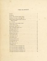 Table of Contents, Washington D. C. and Prince George County Maryland 1878