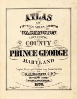 Title Page, Washington D. C. and Prince George County Maryland 1878