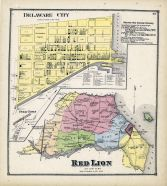 Delaware City, Red Lion, Delaware State Atlas 1868