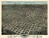 Atlanta 1871 Bird's Eye View 17x21, Atlanta 1871 Bird's Eye View
