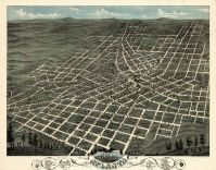 Atlanta 1871 Bird's Eye View 24x30, Atlanta 1871 Bird's Eye View