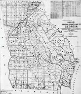 Georgia State County Map 1895, Georgia State County Map 1895