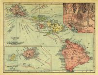 Hawaii 1912 State Map