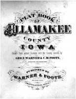 Title Page, Allamakee County 1886 Version 2