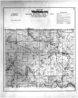 Waterloo Township, Bergen, Dorchester, Quandahl, Allamakee County 1886 Version 2
