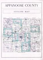 Appanoose County Outline Map