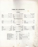 Table of Contents, Black Hawk County 1910