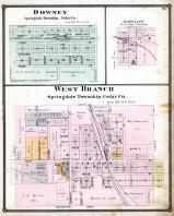 Downey, Massillon, West Branch, Cedar County 1885
