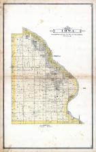 Iowa Township Map, Cedar County 1885