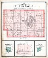 Red Oak Township, Centerdale P.O., Inland, Plato, Cedar County 1885