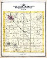 Springdale Township, West Branch, Downey, Centerdale P.O., Cedar County 1885
