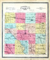 County Topographical Map, Cedar County 1901