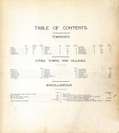 Table of Contents, Cedar County 1901