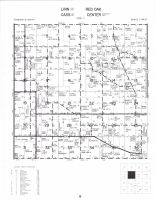 Linn - East, Cass - East, Center - Northwest and Red Oak Townships, Tipton, Cedar County 1977
