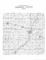 Cherokee County Outline Map, Cherokee County 1907 Cherokee Times