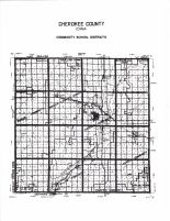 Cherokee County School Districts Map, Cherokee County 1982