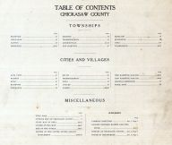 Table of Contents, Chickasaw County 1915