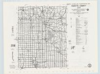Fayette County Highway Map, Chickasaw County 1985