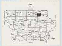 Iowa State Map, Chickasaw County 1985