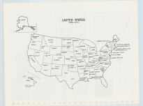 United States Map, Chickasaw County 1985
