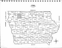 Iowa State Map, Clay County 1970