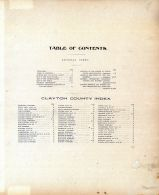 Table of Contents, Clayton County 1902