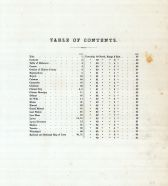 Table of Contents, Clinton County 1874