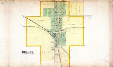 Delmar Street Map, Clinton County 1894