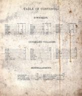 Table of Contents, Clinton County 1894
