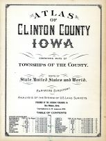Title Page, Table of Contents, Clinton County 1925